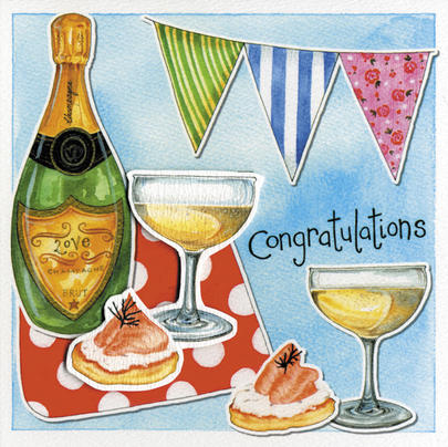 Congratulations Embellished Greeting Card Kate Brazier Art Cards