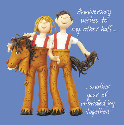 Happy Anniversary To My Other Half Greeting Card One Lump or Two