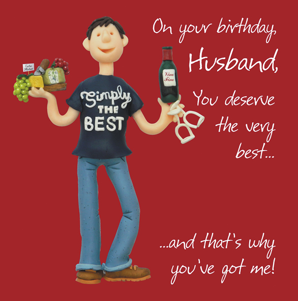 Husband Birthday Greeting Card One Lump Or Two