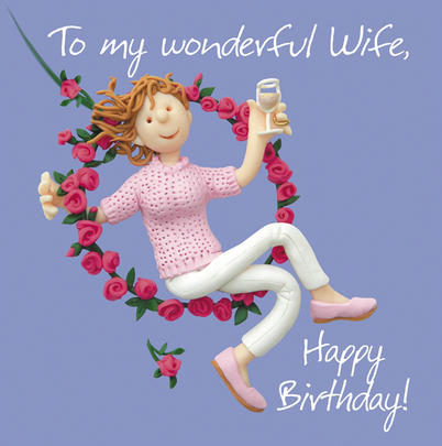 Wonderful Wife Birthday Greeting Card One Lump or Two