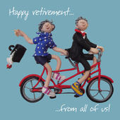 "Large 8"" Square Happy Retirement From All Of Us Greeting Card"
