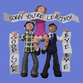 "Large 8"" Square Sorry You're Leaving Greeting Card"