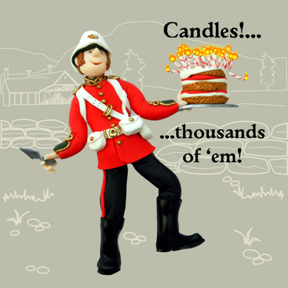 Candles Thousands Of 'em Funny Olde Worlde Birthday Card