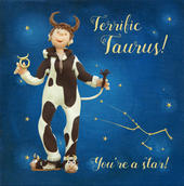 Terrific Taurus Zodiac Birthday Greeting Card