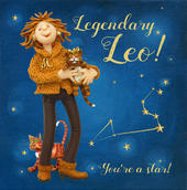 Legendary Leo Zodiac Birthday Greeting Card