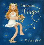 Vivacious Virgo Zodiac Birthday Greeting Card