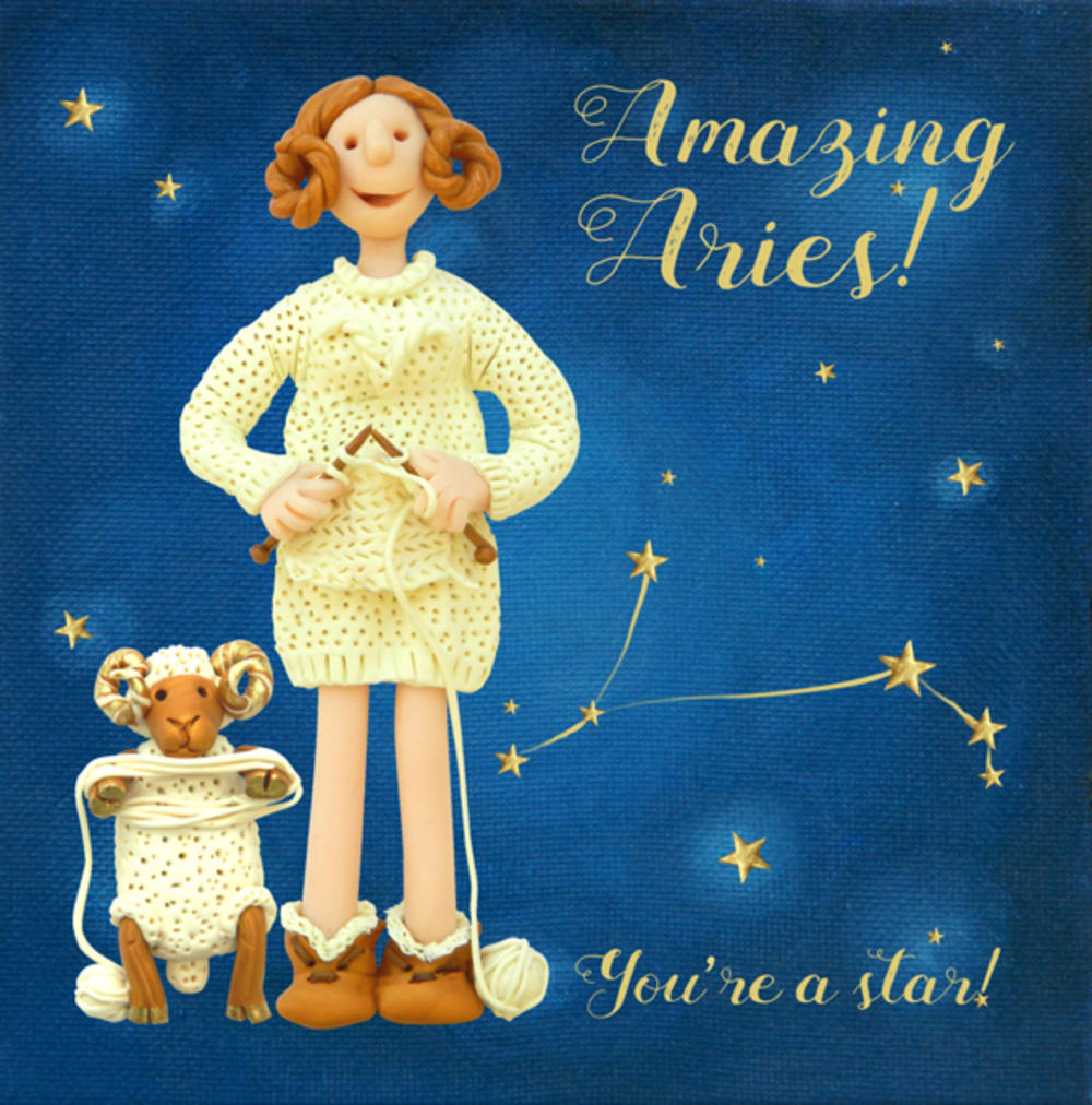 Amazing Aries Zodiac Birthday Greeting Card