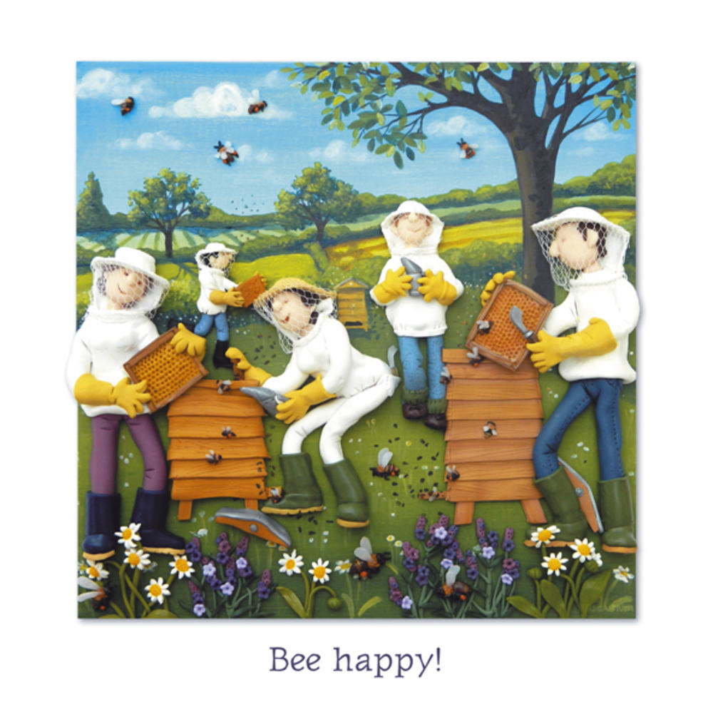 Bee Happy Blank Greeting Card Any Occasion