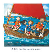 Life On The Ocean Wave Blank Greeting Card Any Occasion