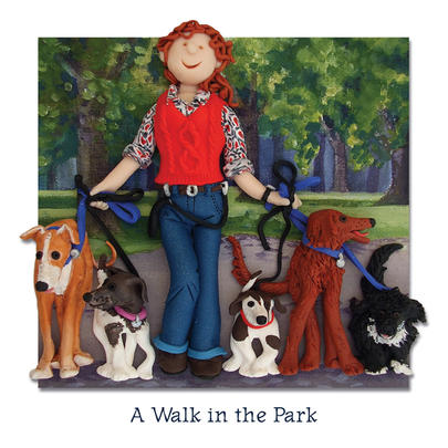 A Walk In The Park Blank Greeting Card Any Occasion