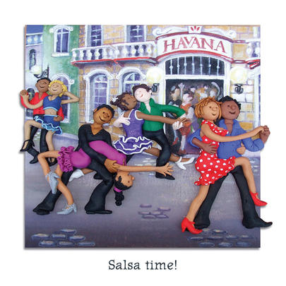 Salsa Time Blank Greeting Card Any Occasion