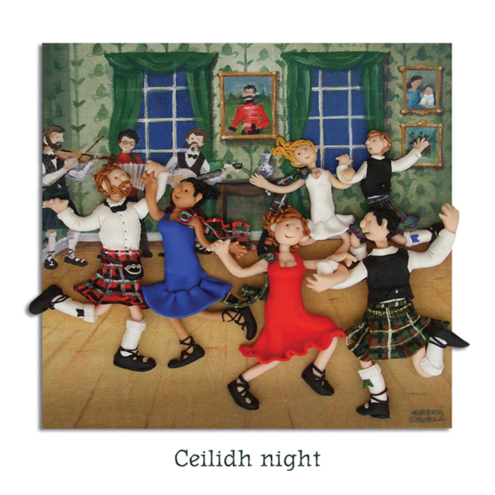 Ceilidh Night Blank Greeting Card Any Occasion
