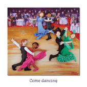 Come Dancing Blank Greeting Card Any Occasion