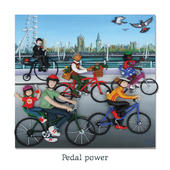 Pedal Power Blank Greeting Card Any Occasion