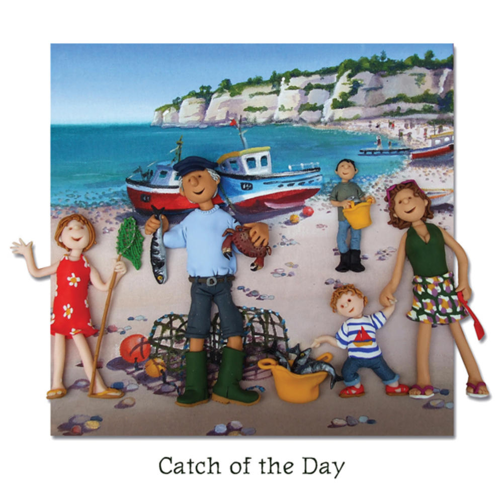 Catch Of The Day Blank Greeting Card Any Occasion