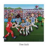 Free Kick Blank Greeting Card Any Occasion