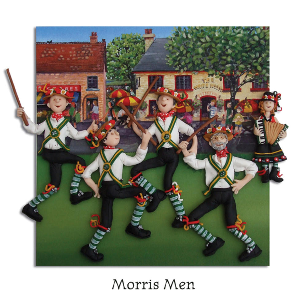 Morris Men Blank Greeting Card Any Occasion