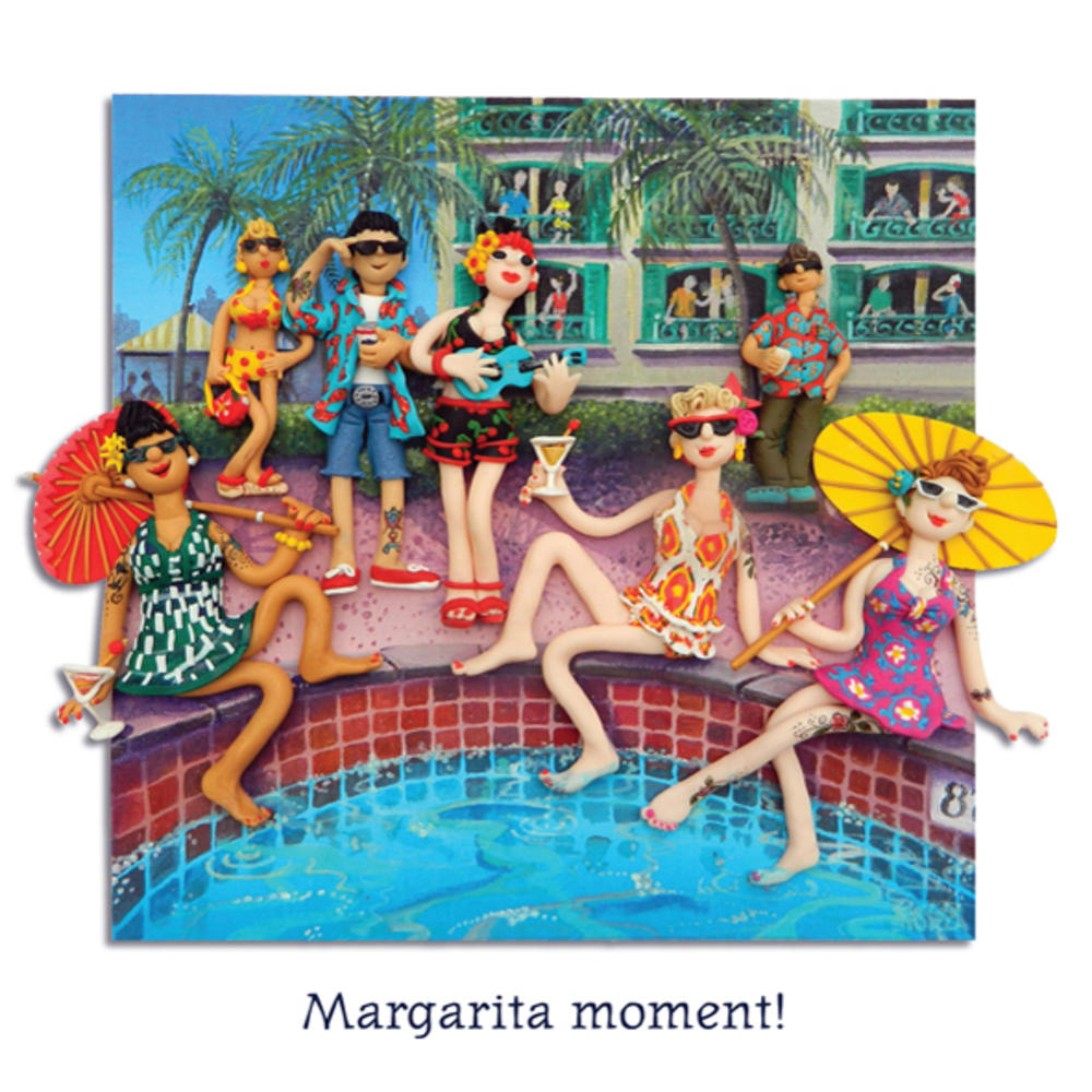 Margarita Moment Blank Greeting Card Any Occasion