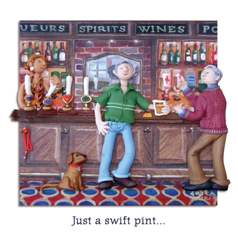 Just A Swift Pint Blank Greeting Card Any Occasion