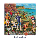 Rock Pooling Blank Greeting Card Any Occasion