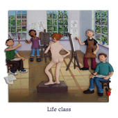Life Class Blank Greeting Card Any Occasion