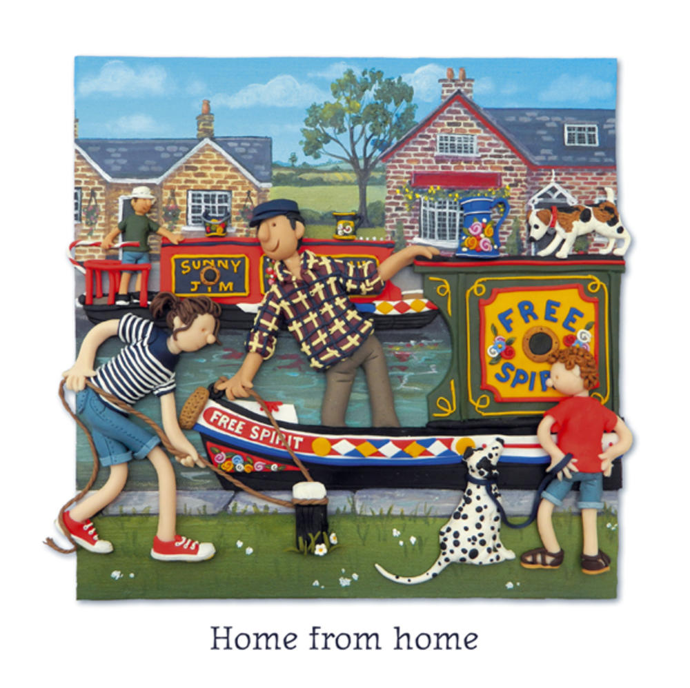 Home From Home Blank Greeting Card Any Occasion