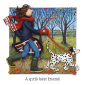 A Girl's Best Friend Blank Greeting Card Any Occasion