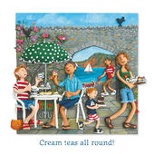Cream Teas All Round Blank Greeting Card Any Occasion