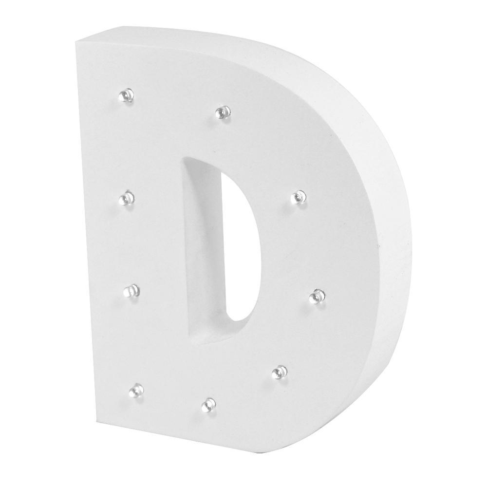 Letter D Enlightened LED Light Up Wooden Block