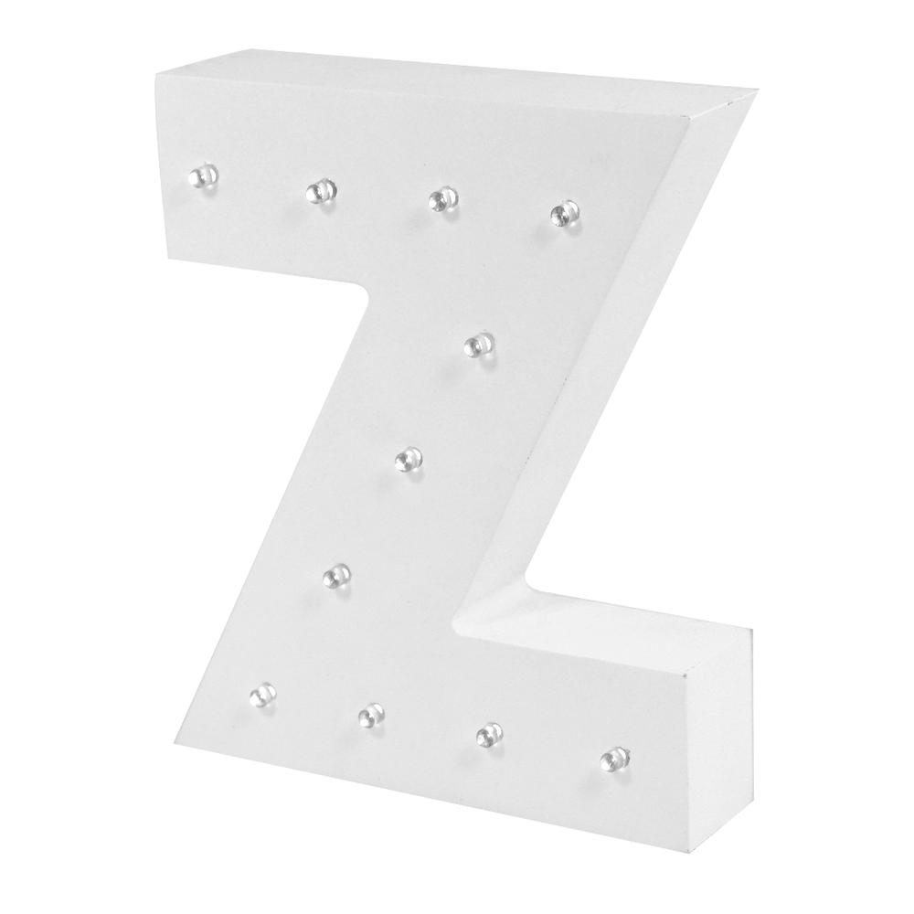 Letter Z Enlightened LED Light Up Wooden Block