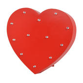 Red Heart Enlightened LED Light Up Wooden Block