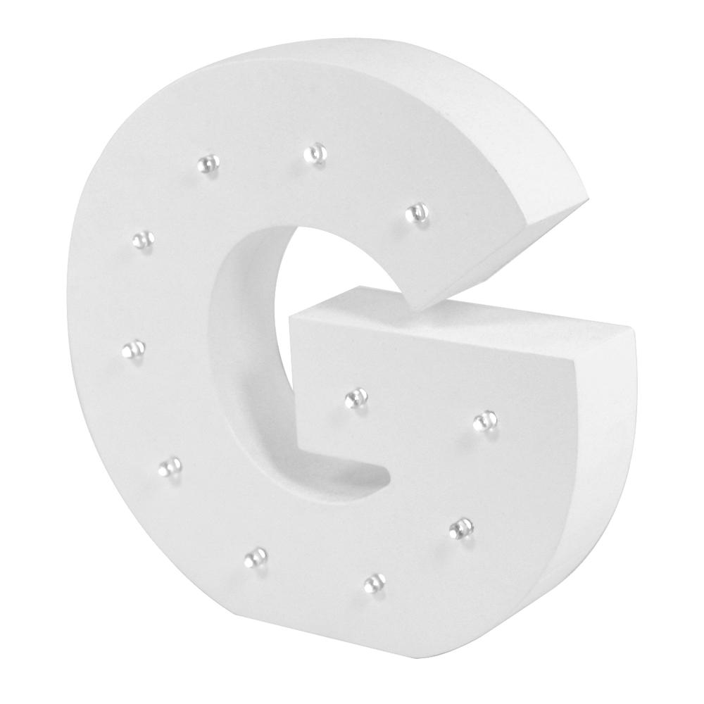 Letter G Enlightened LED Light Up Wooden Block