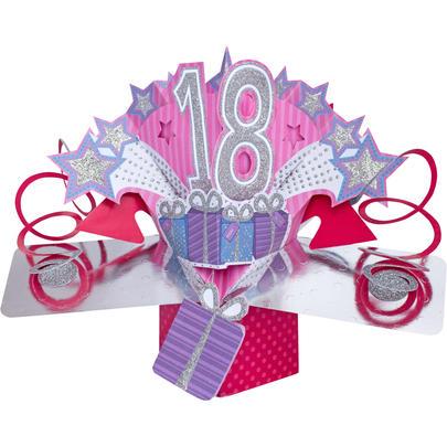 Happy 18th Birthday Pop-Up Greeting Card
