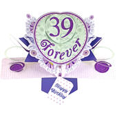 39 Forever Birthday Pop-Up Greeting Card