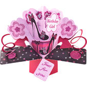 Birthday Girl Pop-Up Greeting Card