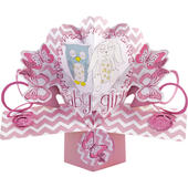 New Baby Girl Pop-Up Greeting Card