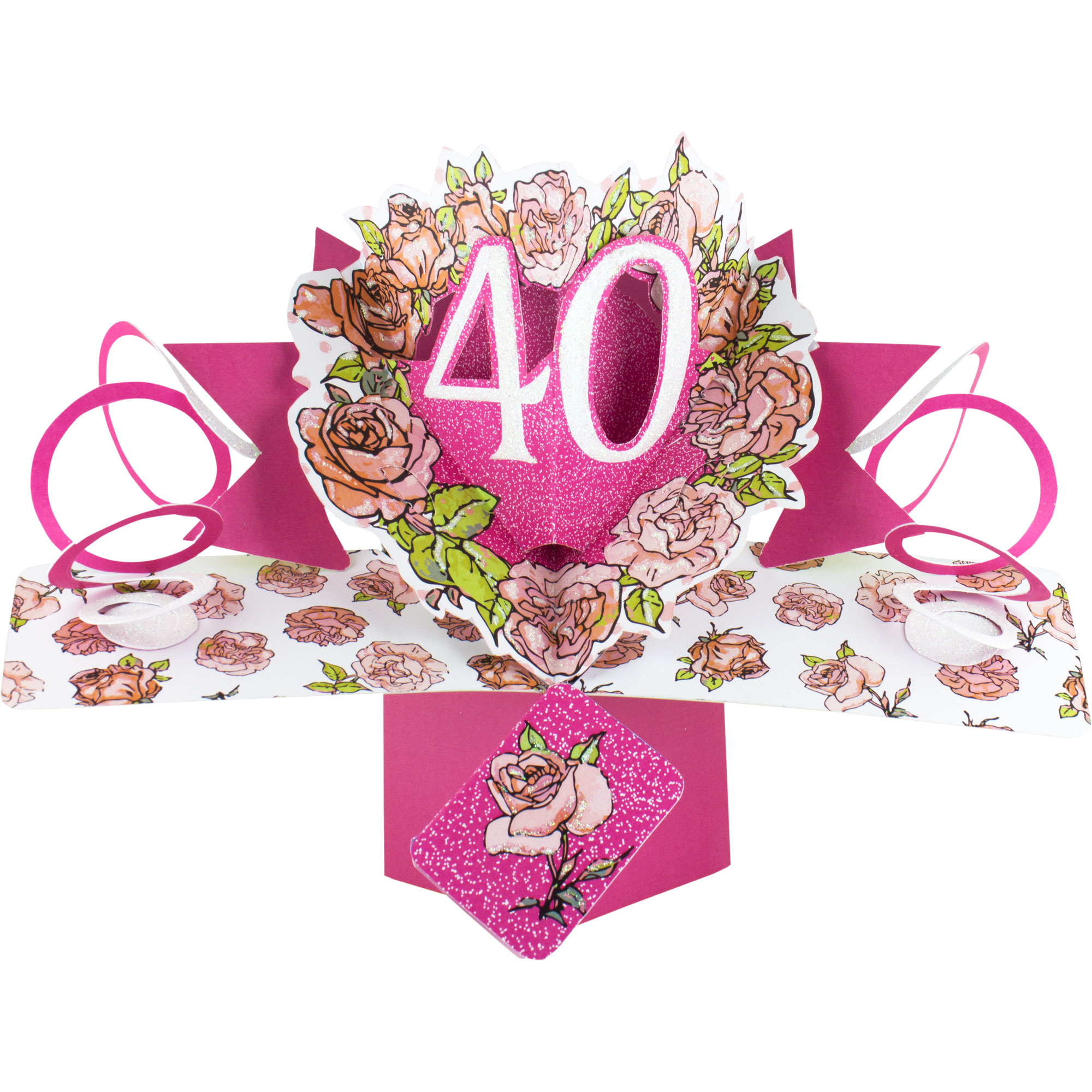 Happy 40th Birthday Pop Up Greeting Card
