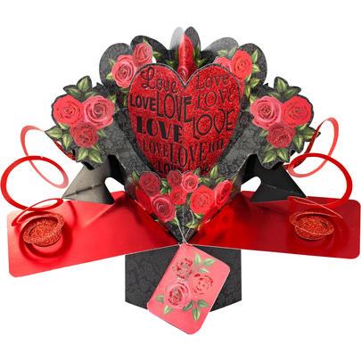 Love Love Love Pop-Up Greeting Card