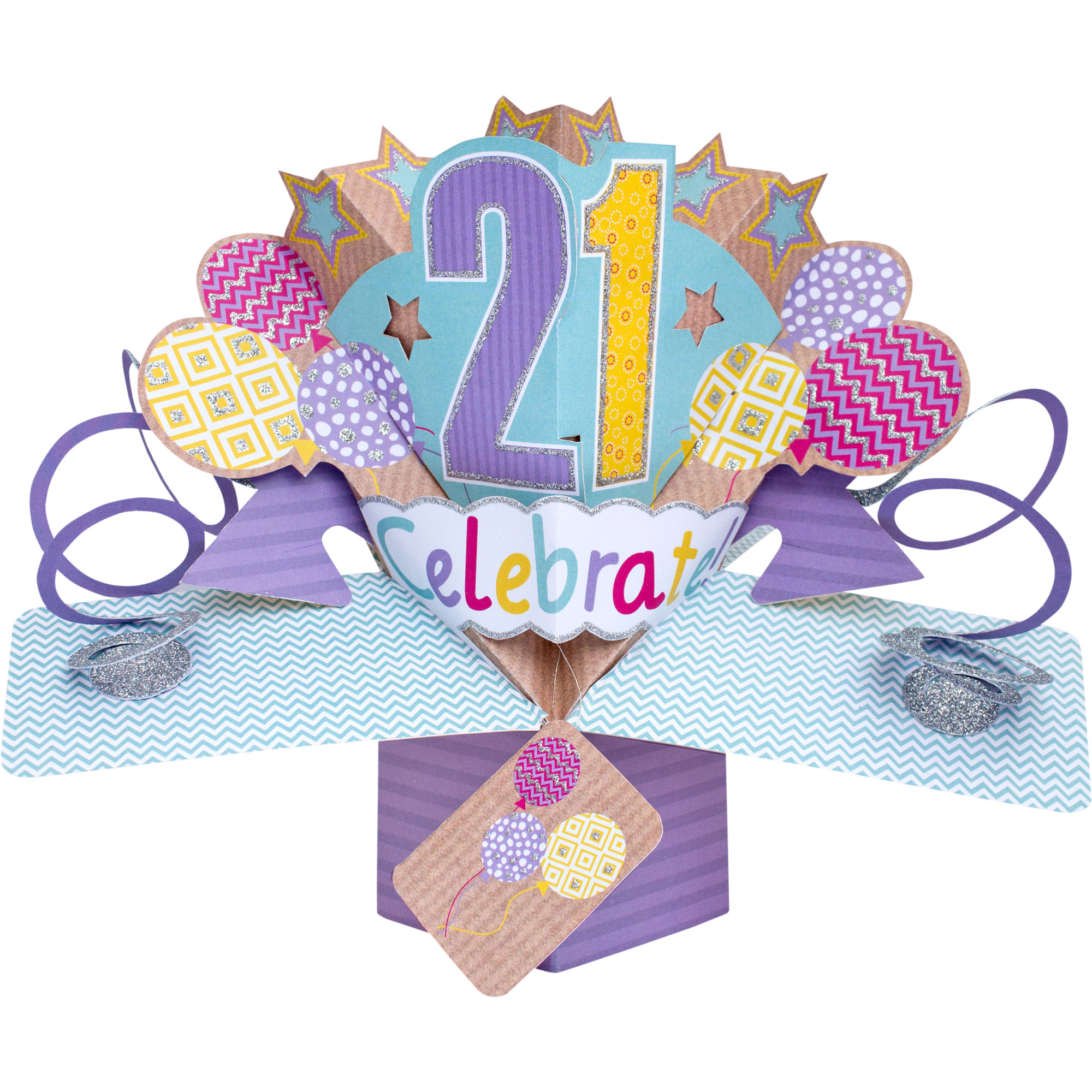 Happy 21st Birthday Pop Up Greeting Card