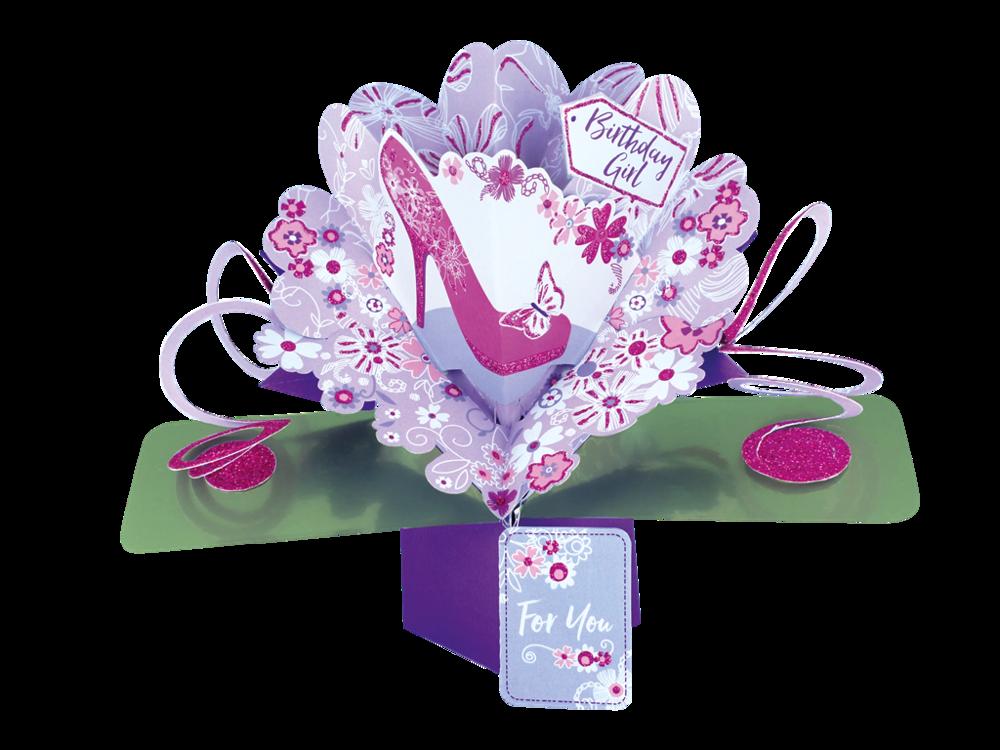 Birthday Girl Pop-Up Greeting Card