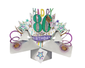 Happy 80th Birthday Pop-Up Greeting Card