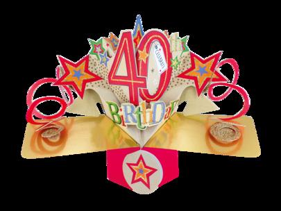 Happy 40th Birthday Pop-Up Greeting Card