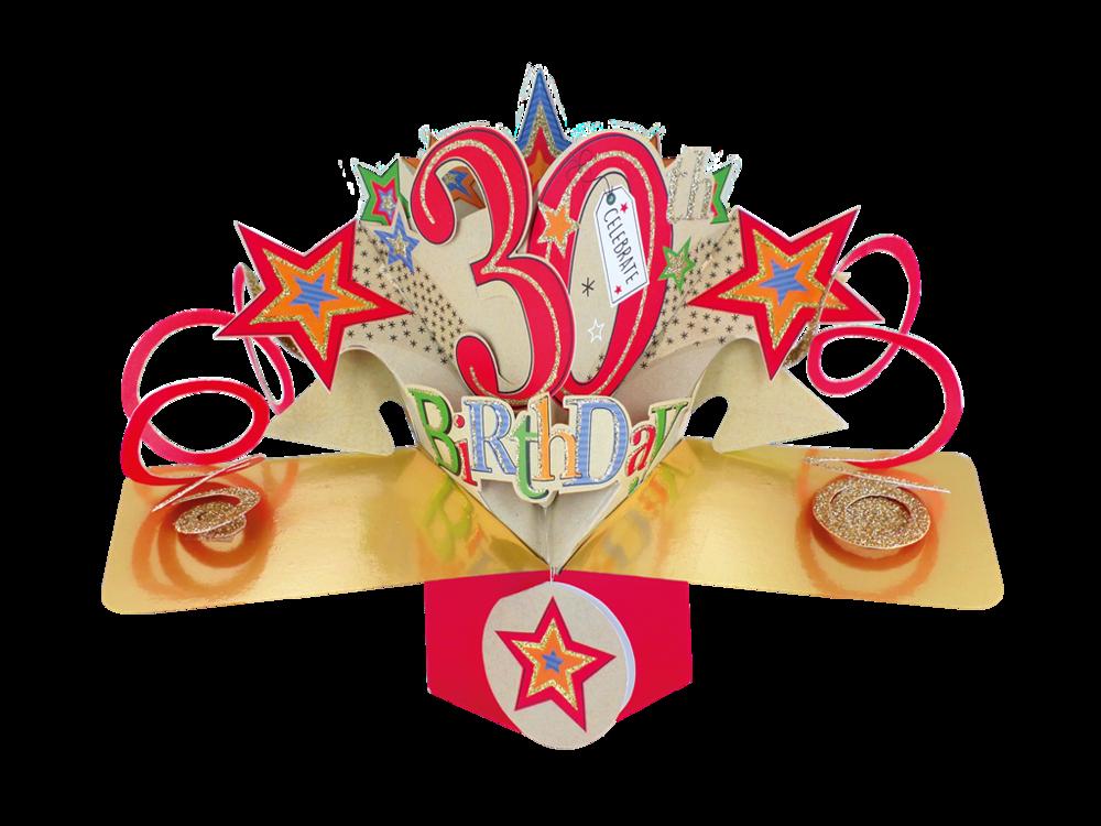 Happy 30th Birthday Pop-Up Greeting Card