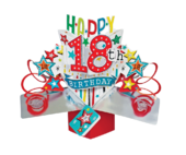 Happy 18th Birthday Pop-Up Greeting Card