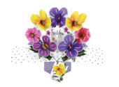 For You Flowers Pop-Up Greeting Card