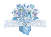 New Baby Boy Pop-Up Greeting Card