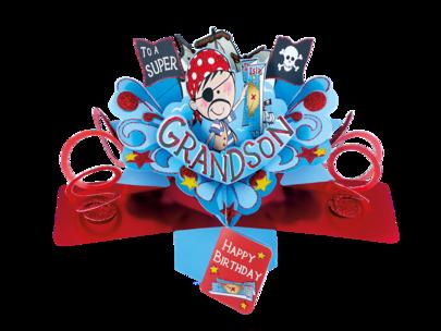 Grandson Birthday Pop-Up Greeting Card