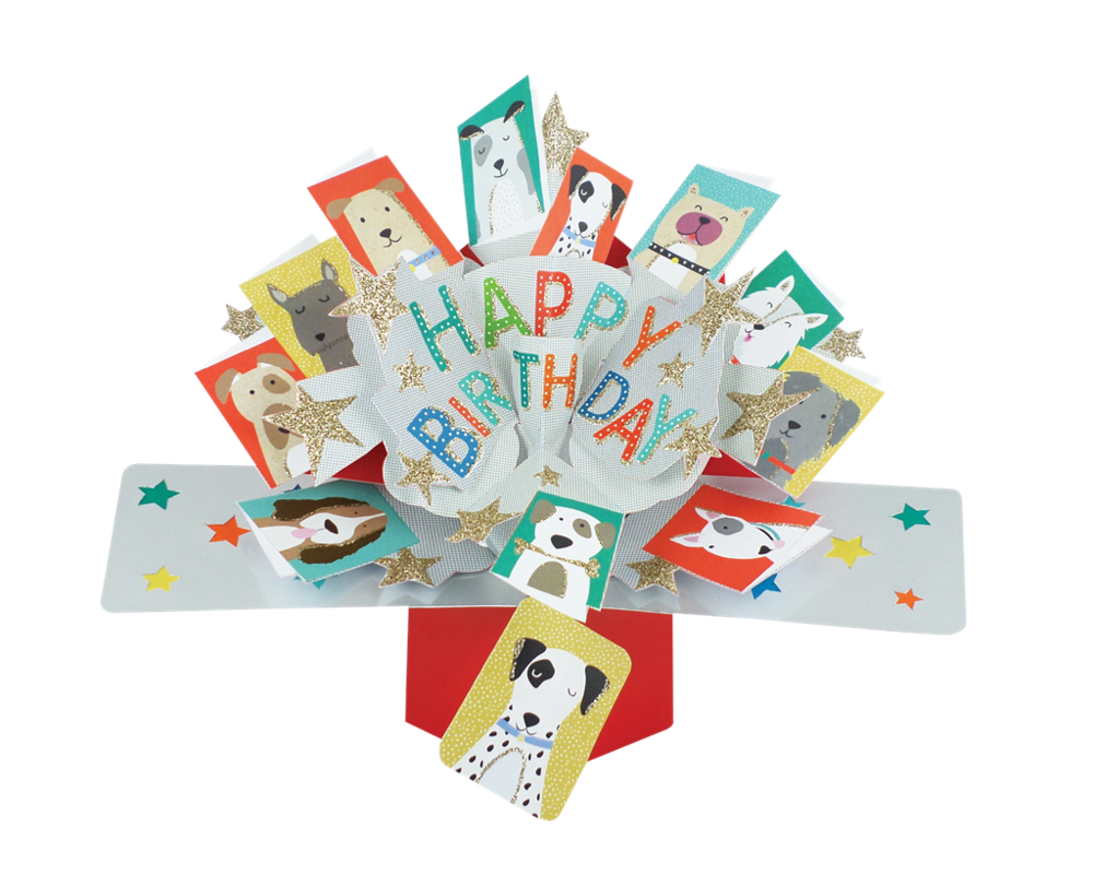 Birthday Dogs Pop-Up Greeting Card