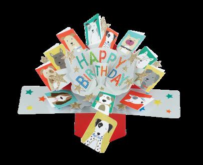 Birthday Dogs Pop-Up Greeting Card