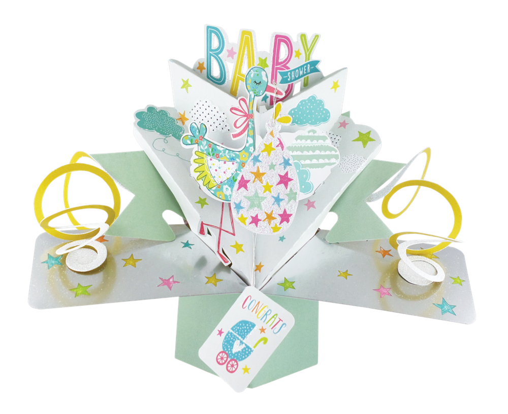 Baby Shower Pop-Up Greeting Card